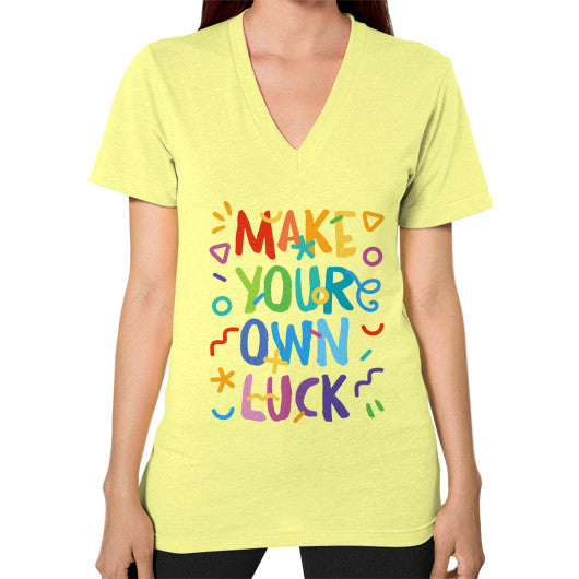 Make your Own Luck V-Neck T-Shirt - Serob  - 7