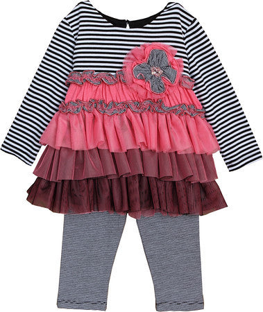 Camille Long Sleeve 2pc Legging Set for Baby Girl - Serob