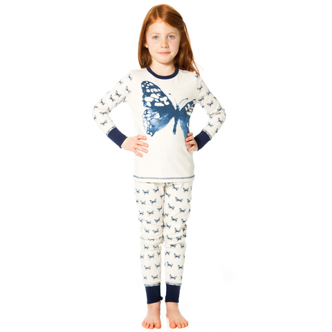 Dream Catcher Butterfly Print 2PC Set Pajama for Girls - Serob  - 1