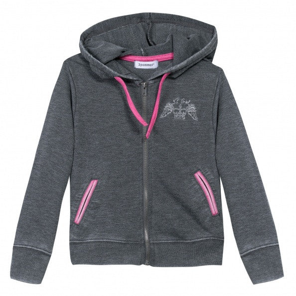 Grey Hoodie with Sweatpants Set for Girls - Serob  - 2