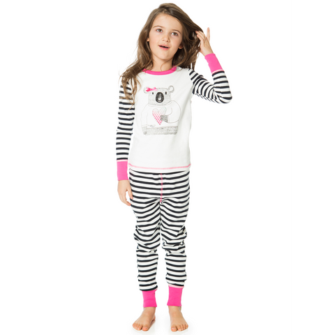 Dream Catcher Teddy Print 2PC Set Pajama for Girls - Serob  - 1