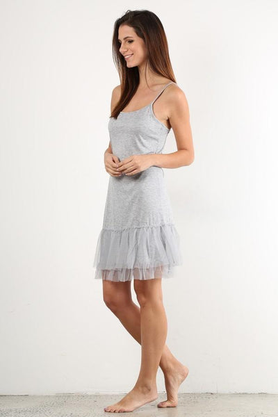 Grey Tutu Slip Dress