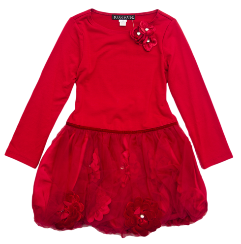 Red Bubble Party Dress for Girls - Serob