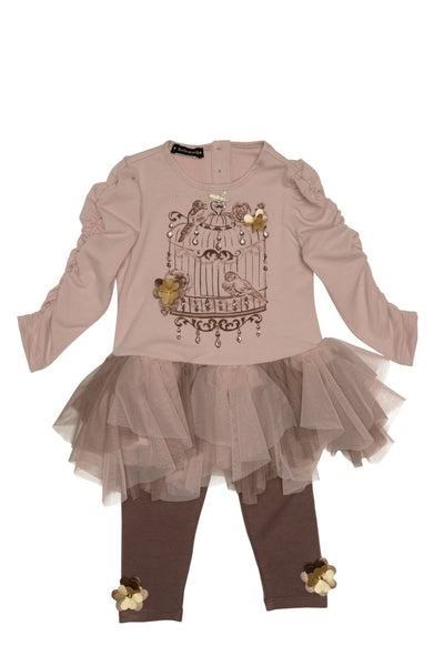 Heart of Gold Tunic and Legging Girl's Set - Serob  - 2