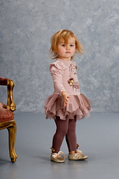 Heart of Gold Tunic and Legging Girl's Set - Serob  - 1