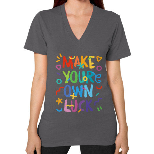 Make your Own Luck V-Neck T-Shirt - Serob  - 3