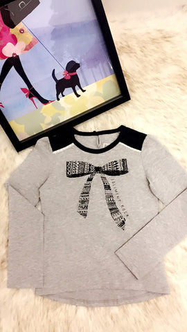 Graphic Tee with Lace Details for Girls