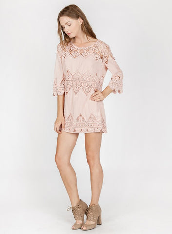 Super Femme Crochet Lace dress with scalloped hems