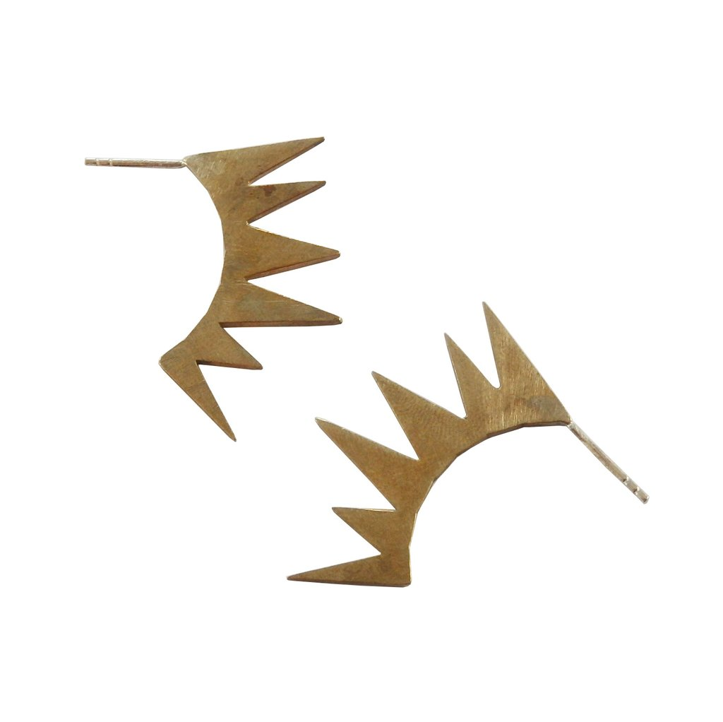 Metrix Jewelry Spiked Fan Earrings