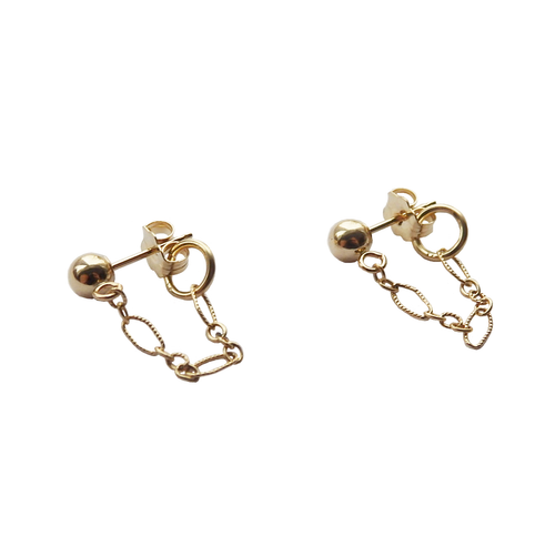 Metrix Jewelry - Ball Chain Stud Earrings (choose your metal)