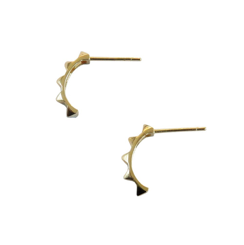 Metrix Jewelry - 14 Karat Gold Spike Hoops