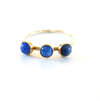 14 Karat Gold Triple Lapis Crown Ring