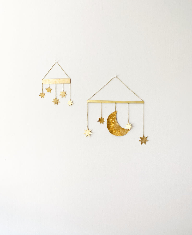 Brass Wall Hanging Mobile