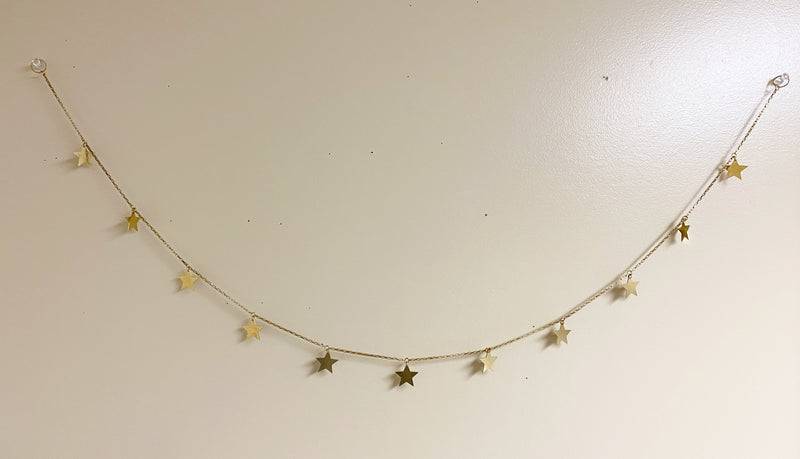 Brass Star Wall Hanging Garland