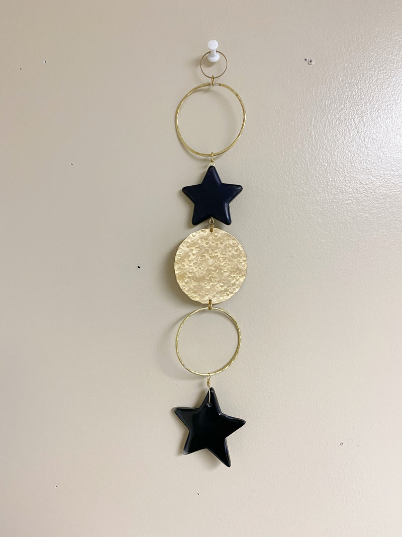 Celestial Star and Brass Wall Hanging
