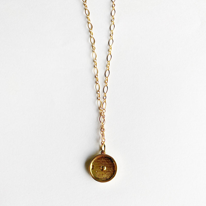 Evil Eye Layering Necklace in Gold Fill