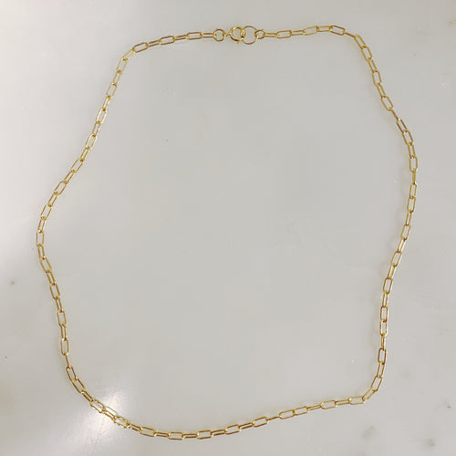 Mini Paperclip necklace in 14 karat gold fill