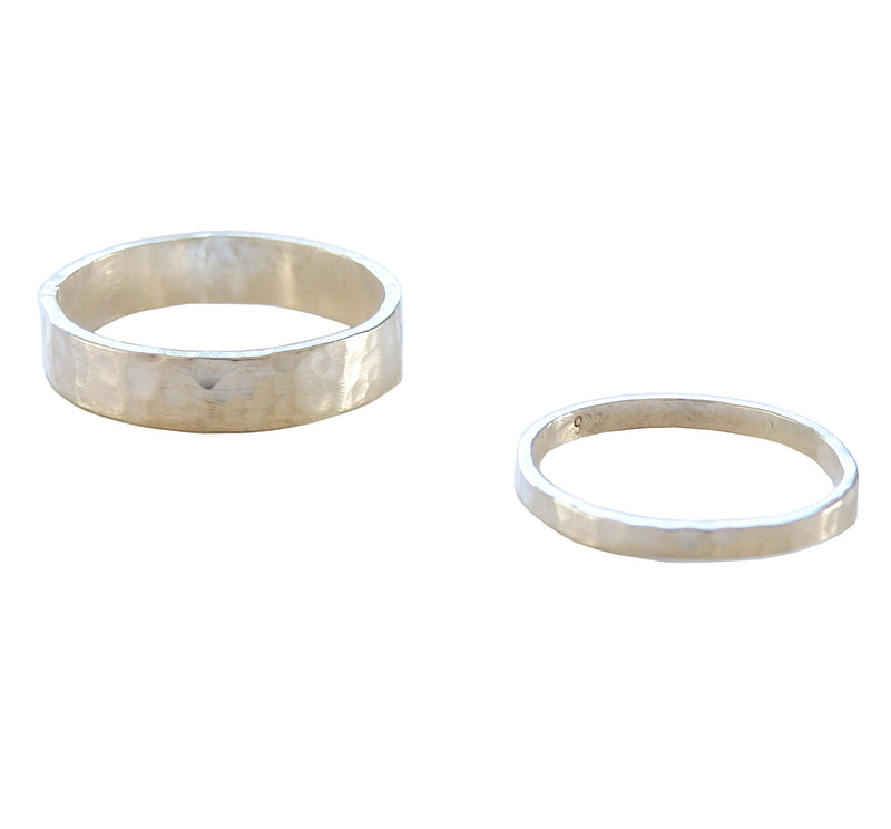 Metrix Jewelry - Hammered Ring (thick or thin)
