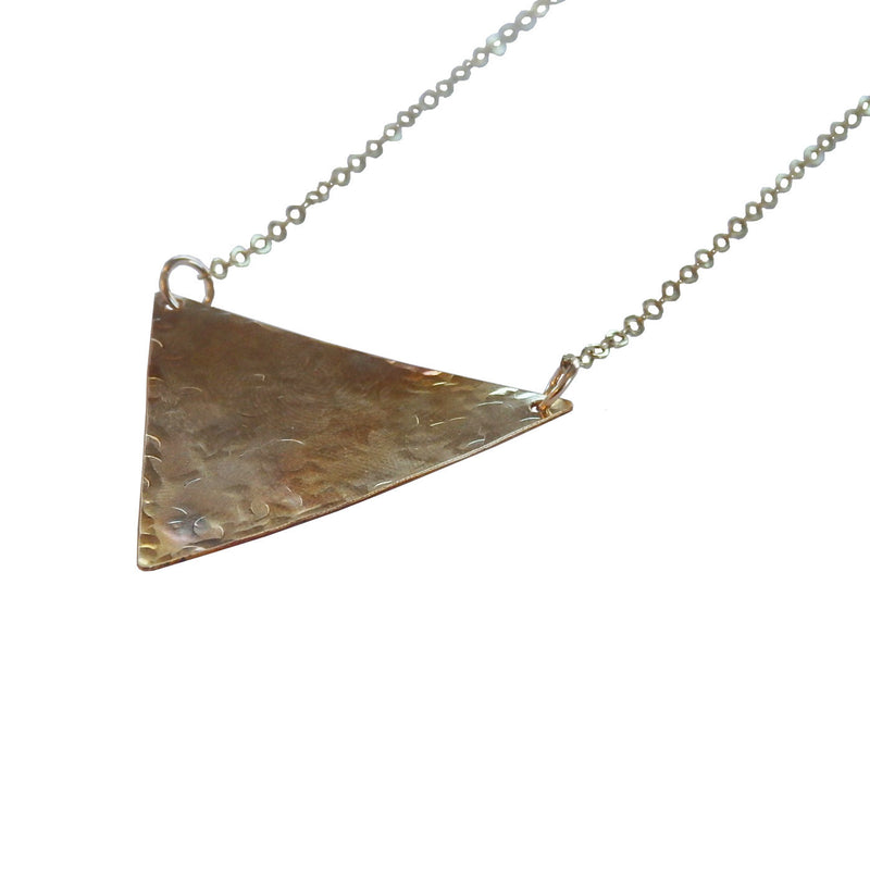 Metrix Jewelry - Triangle Textured Necklace