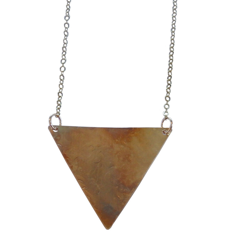 Triangle Textured Necklace
