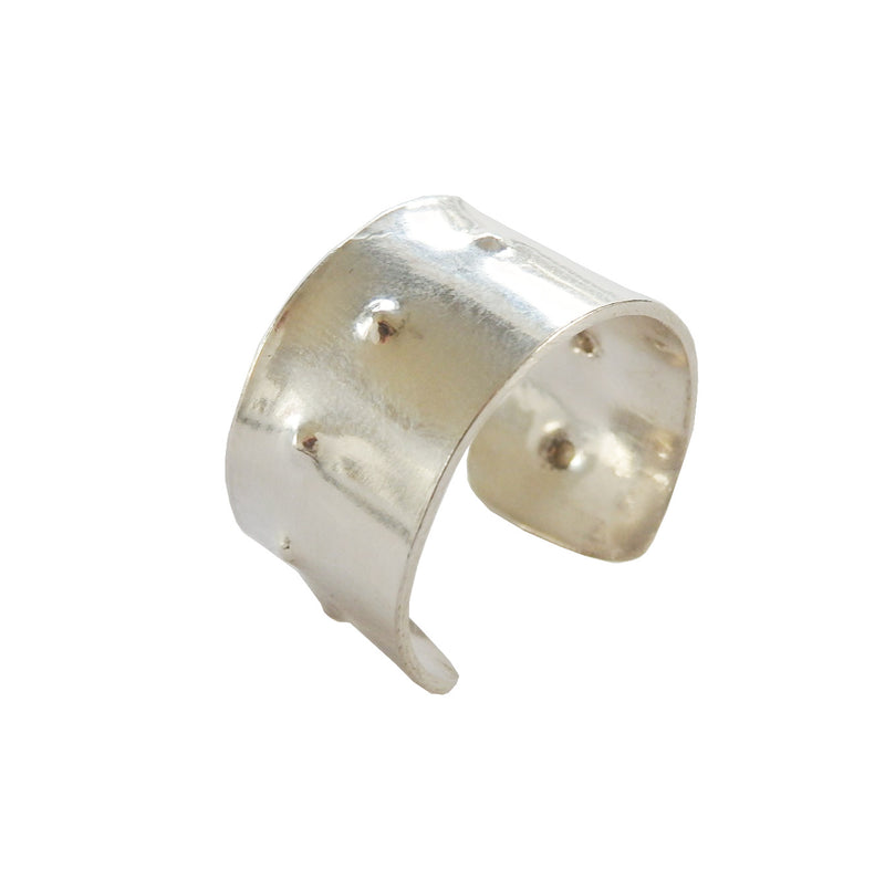 Metrix Jewelry - Thick Hammered Dot Ring (in Sterling Silver)