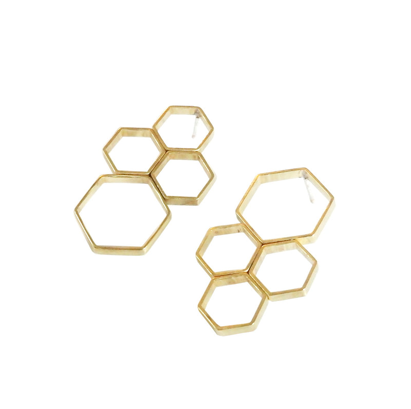 Metrix Jewelry - Hexagon Cluster Earrings