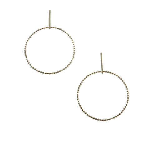 Linear Beaded Hoop Earrings