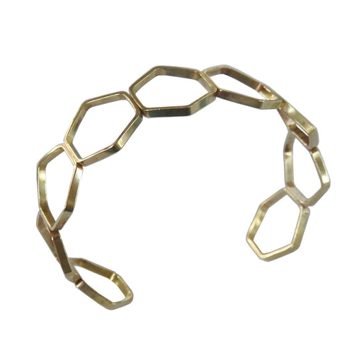 Metrix Jewelry - Hexagon Cuff Bracelet