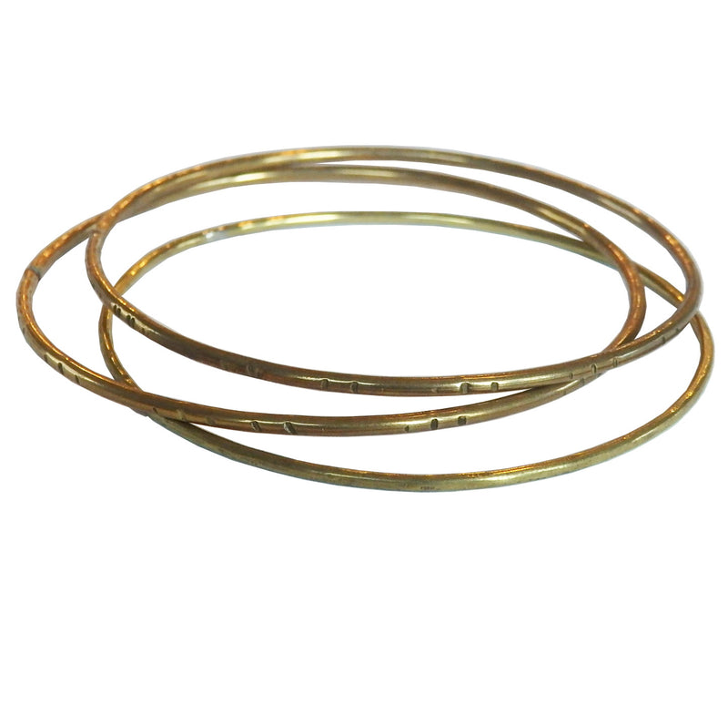 Metrix Jewelry - Brass Bangles (single or set)