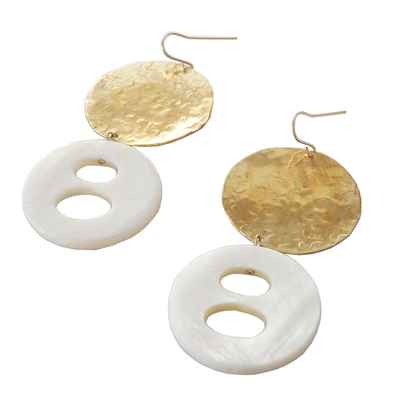 Metrix Jewelry - Geometric Shell Earrings