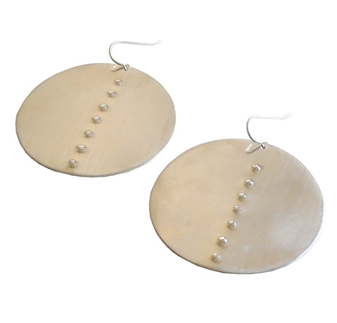 Circle Hammered Dot Earrings