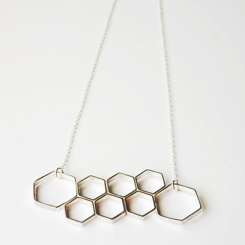 Hexagon Cluster Necklace