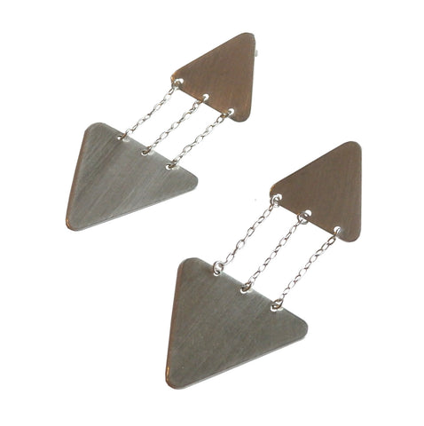 Chain Triangle Statement Earrings