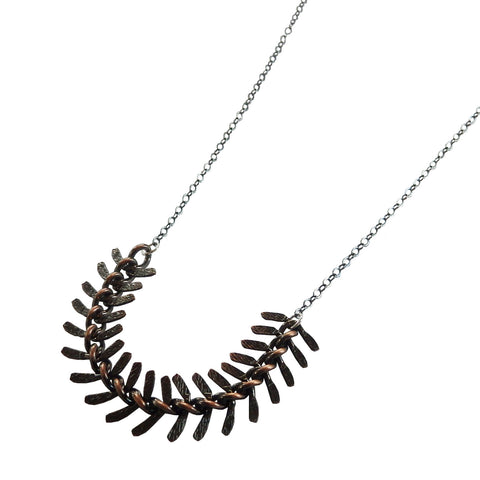 Black Spine Spike Necklace