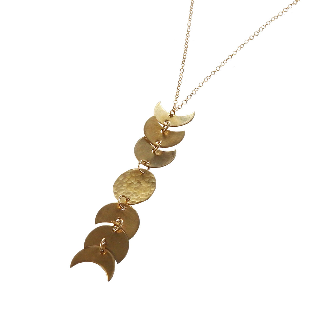 Moon Phase Drop Necklace