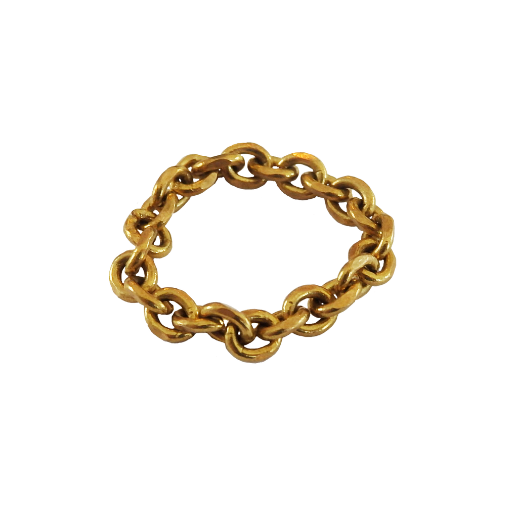 Brass Chain Link Ring