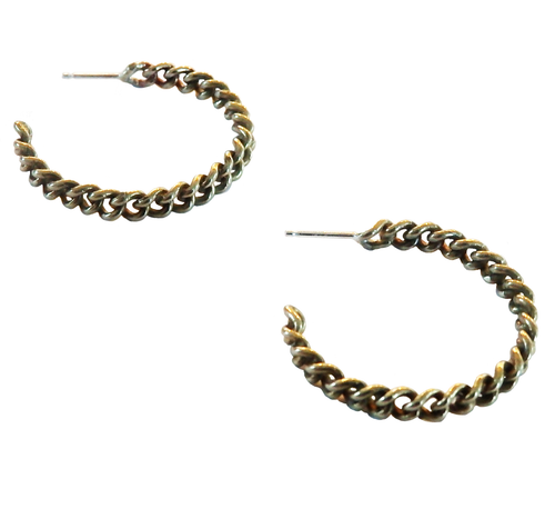 Metrix Jewelry - Chain Link Hoop Earrings