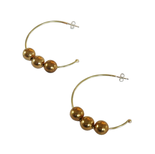 Metrix Jewelry - Triple Ball Hoop Earrings