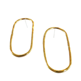 Hammered Oval Earrings