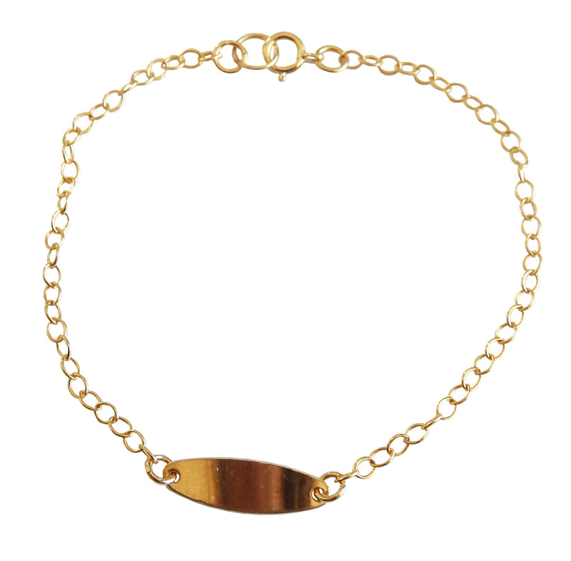 gold fill ID bracelet
