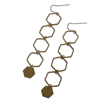 Metrix Jewelry - Hexagon Drop Earrings