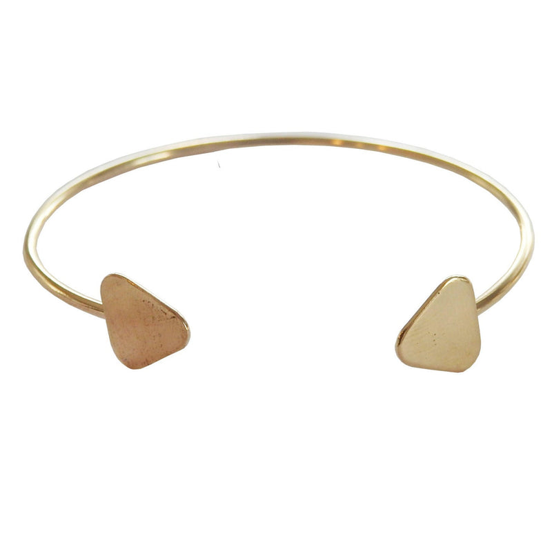 Double Triangle Brass Cuff