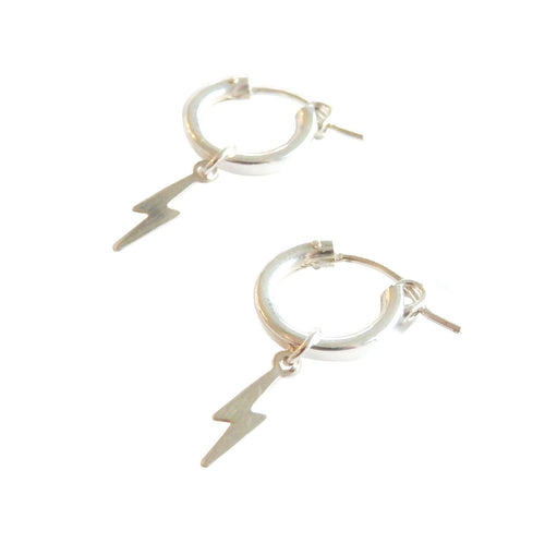 Metrix Jewelry - Tiny Lightning Bolt Huggie Hoops