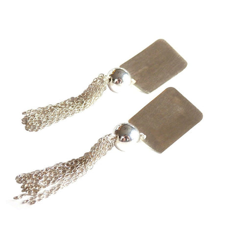 Rectangle Fringe Earrings