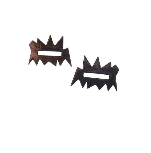 Metrix Jewelry - Open Rectangle Spike Earrings