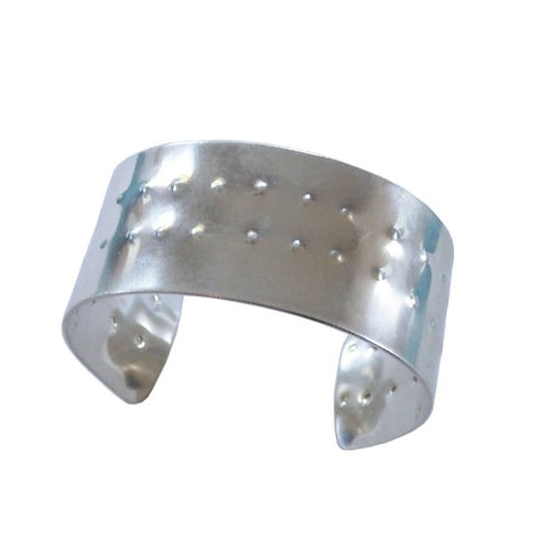 Metrix Jewelry - Sterling Silver Shield Cuff