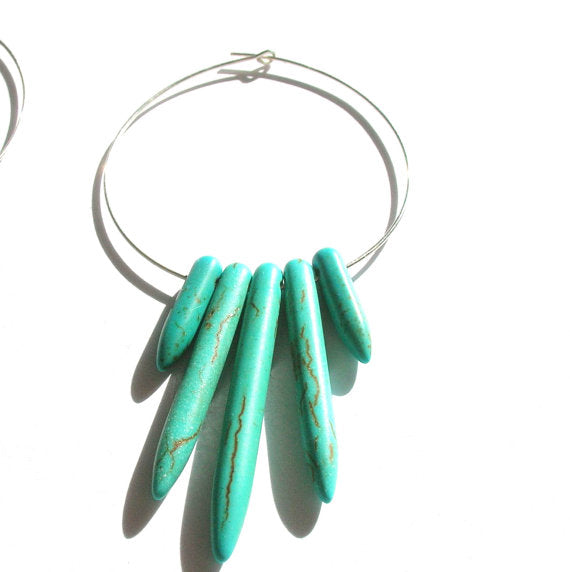 Spike Hoop Earrings - Pick a Color