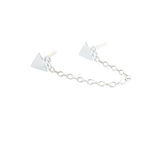 Metrix Jewelry - Triangle Chain Drop Earring