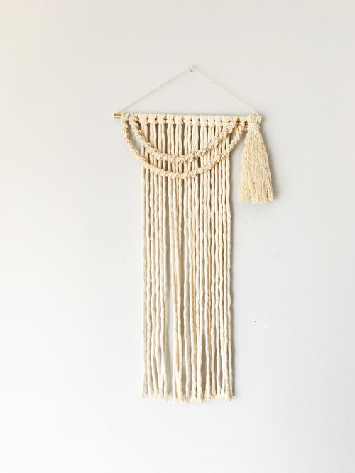 Metrix Jewelry - Fringe Wall Hanging with Twist and Tassels