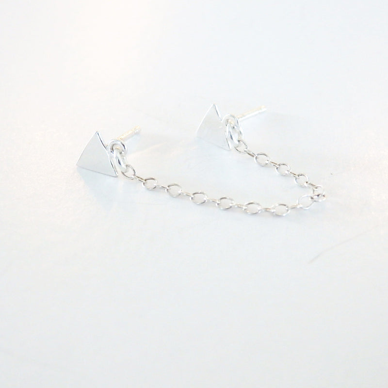 Triangle Chain Drop Earring
